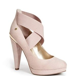 New Gorgeous Guess Blush Raylyn Criscross Heels!